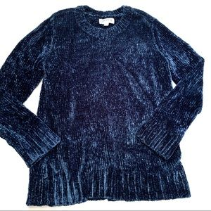 🌸🌵🌼Orvis | Chenille Blue Relaxed Sweater M